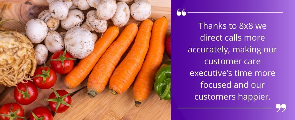 A quote from a direct user of 8x8 business phone system Eversfield organic after their transition in using 8x8 X series phone system