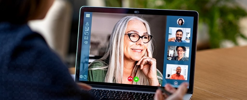 Remote working - business call using a Video Conferencing App