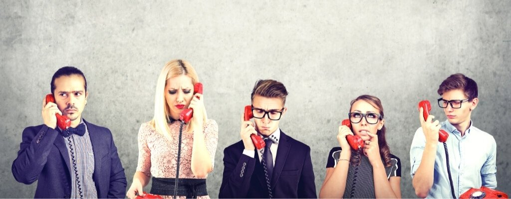 Business people having communication challenges
